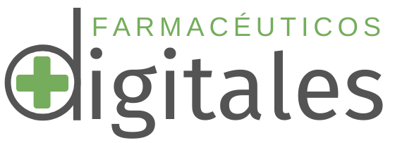 Logo del podcast Farmacéuticos Digitales con fondo transparente